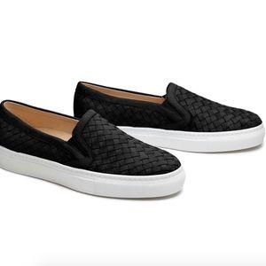 M. Gemi The Cerchio black slip on sneakers
